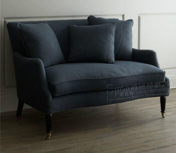 American rural pastoral Mediterranean fabric sofa Nordic IKEA fabric living room sofa modern simple sofa - Taobao