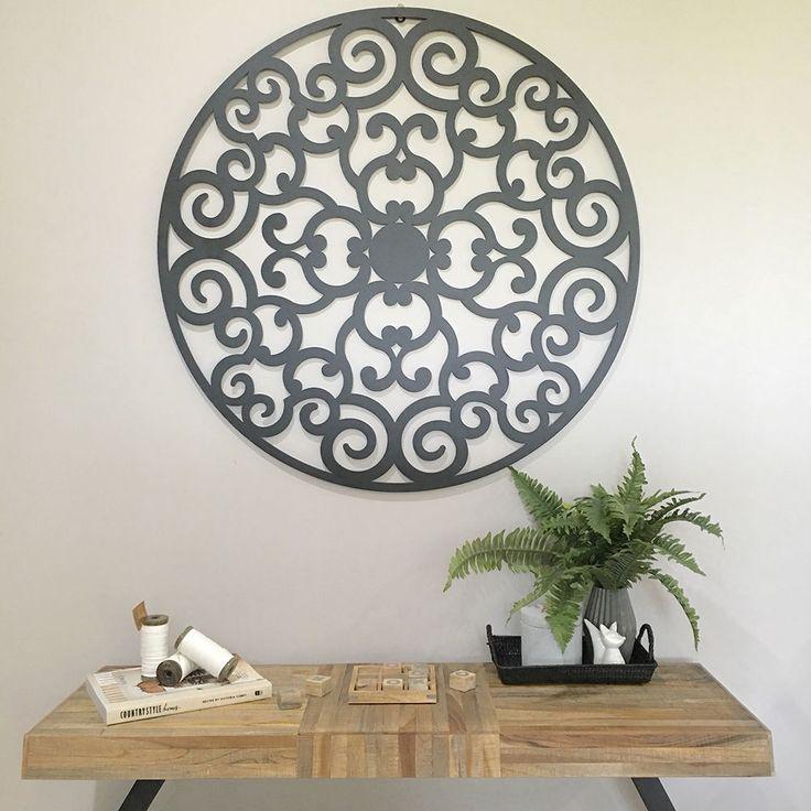 98cm Round Decorative Wall Panel/Indoor Outdoor/Circle Laser Cut Garden Screen