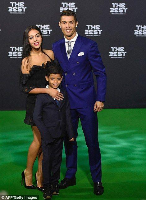 Cristiano Ronaldo makes his first public appearance alongside girlfriend Georgina Rodriguez, accompanied by his son