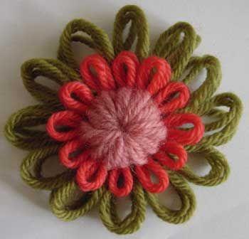 como hacer flores en telar redondo paso a paso - Buscar con Google