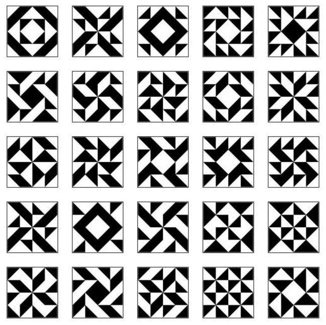 Czarno-białe mozaiki