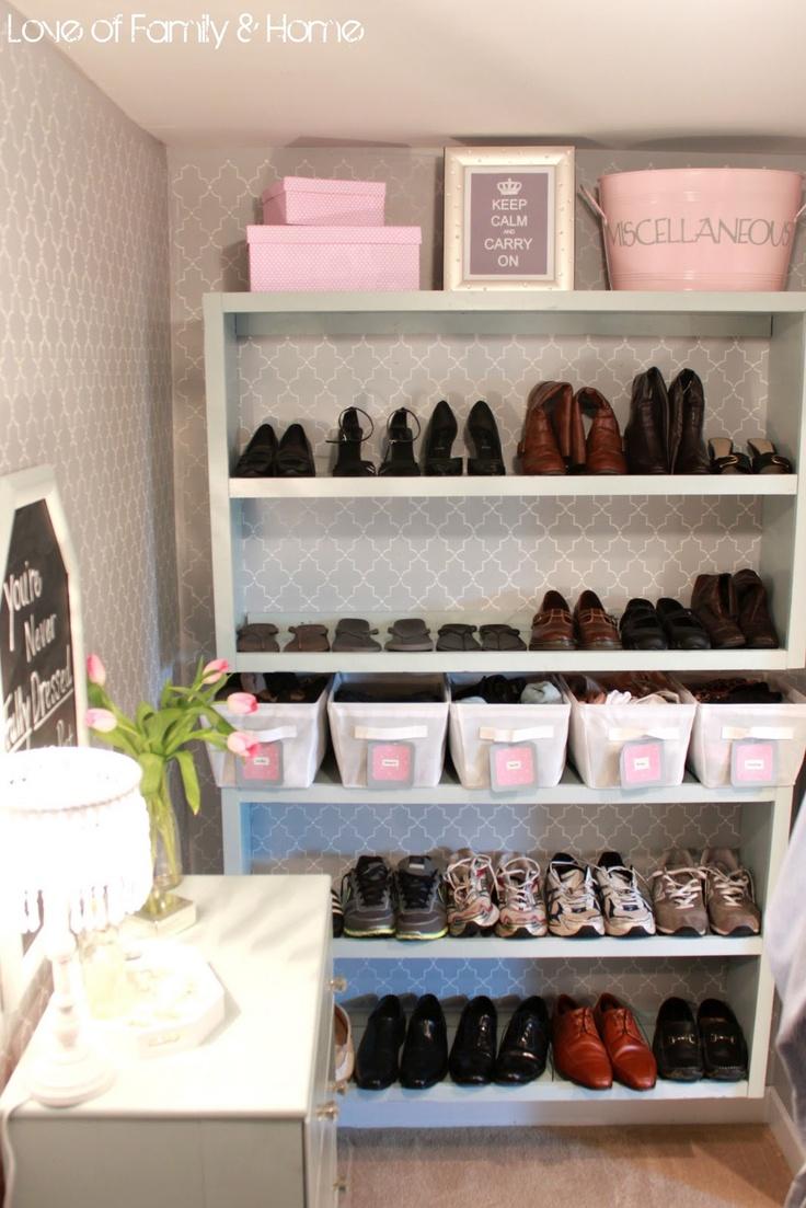 Gorgeous Master Closet Using Everyday Things Organized