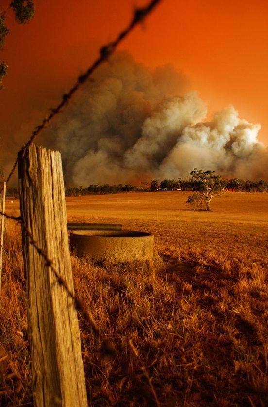 Bush fire Australia. Victorian fires black Saturday
