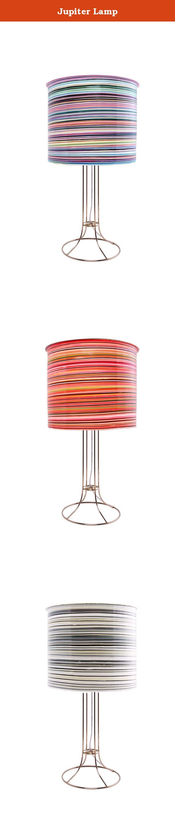 Jupiter Lamp. Traditional, sophisticated and modern! The straight stripe motif works in any setting. From foyer, kids room or end table. Our techniques for layering color neutralize the sterile effect of compact fluorescent bulbs, instead emoting a light that is warm and inviting, making high efficiency bulbs the ideal and responsible choice. We have mastered a combination of elegance and efficiency.