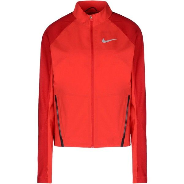 Nike Jacket ($155) ❤ liked on Polyvore featuring activewear, activewear jackets, red, nike activewear, nike and nike sportswear