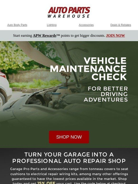 Milled has emails from Auto Parts Warehouse, including new arrivals