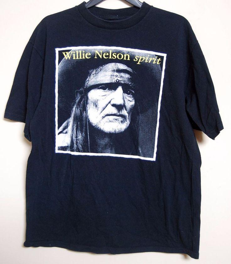 Willie Nelson T Shirt Spirit Pedernales 1996 Studio Roster Luck Texas Unisex EUC #willie #WillieNelson #tshirts #country #countrymusic