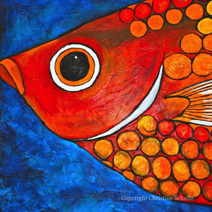 Fish Painting Fine Art on Canvas by TaylorArts on Etsy, $600.00