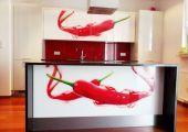 Panele szklane i fronty kuchenne - backsplash.pl - Papryczki chilli