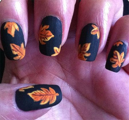 15 + Best Autumn Leaf Nail Art Designs, Ideas, Trends & Stickers 2014   Fall Nails