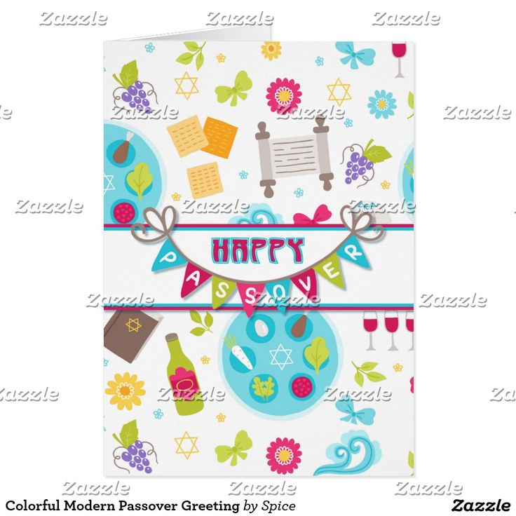 23 best party invitations images on pinterest party invitations colorful modern passover greeting card m4hsunfo
