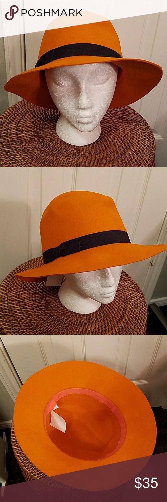 Orange Hat Orange Hat 100% wool. Never worn Accessories Hats