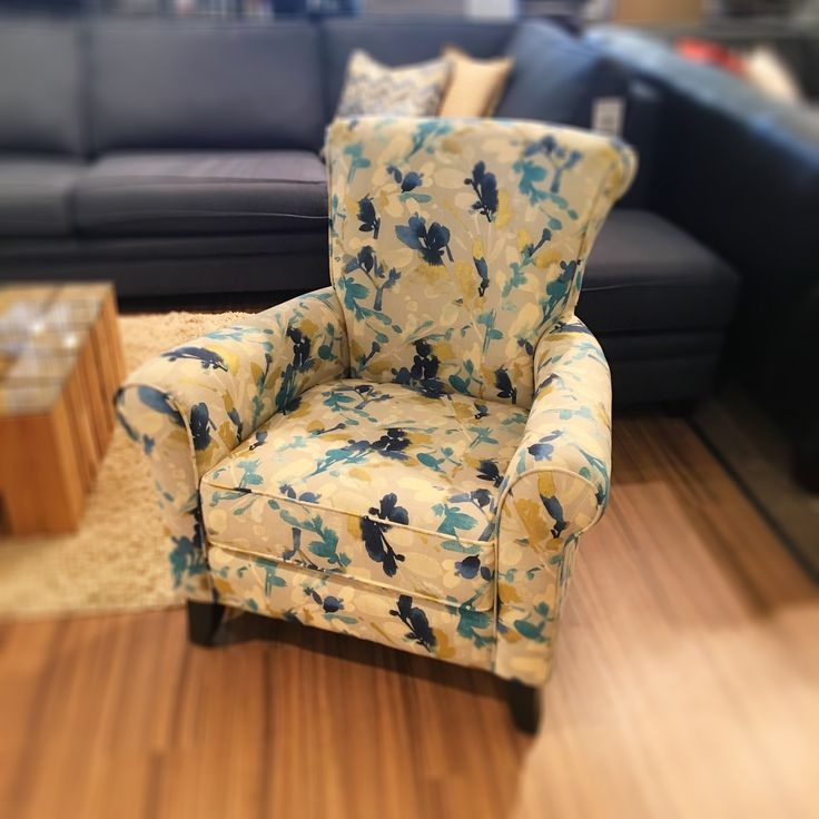 Miss Stella has arrived on showroom floors and has been dressed in a beautiful bold fabric that looks like it's been hand painted!