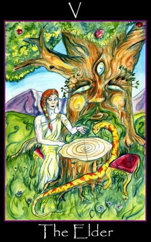 The Elder (The Hierophant) - Tarot of the Sidhe