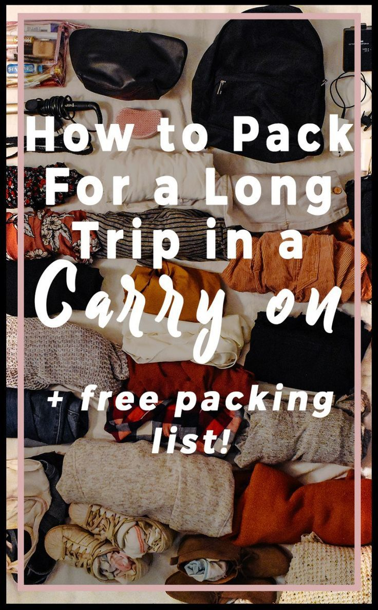 How to pack for a long trip in a carry on bag. Packing is difficult. Until they invent a way to miniaturize my clothes in my suitcase, it's going to stay that way. But I was able to pack for 19 days in ONE carry on. And I'd like to think I didn't look homeless. I know you've probably heard all the stories about layering and all …