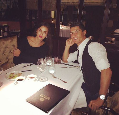 Irina Shayk / Cristinao Ronaldo / cute / Couple/ Romantic Dinner