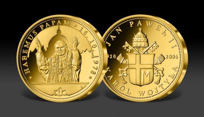 Złoty numizmat Habemus Papam