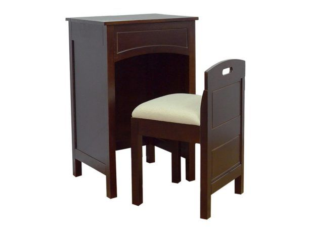 Traditional MDF W Wood Veneer Mirror LaMont Home Cheswick Bath Vanity, Espresso 31 Beautiful Ideas for Styling A Makeup Vanity