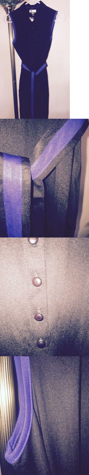 Skirts Skorts and Dresses 179003: Nwt Greg Norman Black Sleeveless Golf Dress W/Blue Trim Sz Small -> BUY IT NOW ONLY: $36.99 on eBay!
