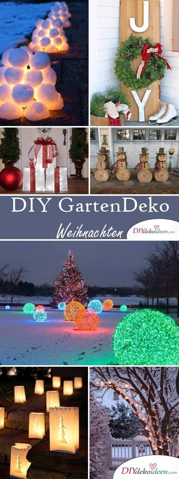 Diy Deko Ideen Zu Weihnachten Den Garten Gestalten Diygartendekoration Balkongarden Gartendekoration G In 2020 Diy Deko Ideen Weihnachten Weihnachten Dekoration