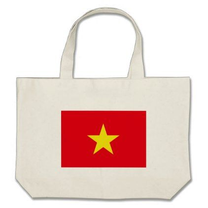 #Vietnam Flag Large Tote Bag - #travel #bags