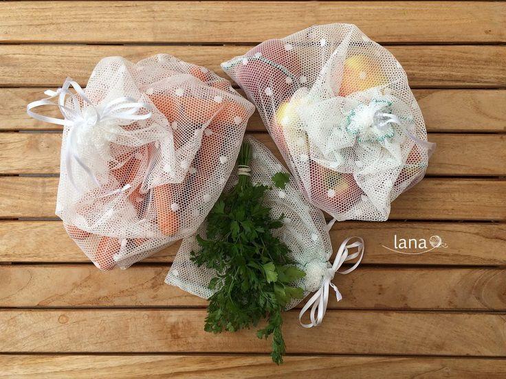 Ekovrecká na ovocie a zeleninu / Reusable produce bags - free tutorial