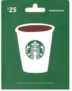 Giveaway: Win a $25 Starbucks Gift Card!