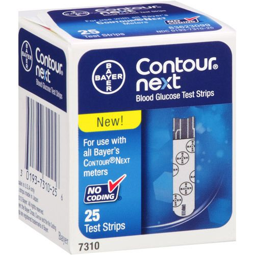 The Bayer Contour Next Test Strips are for use with all of Bayer's Contour Next meters. These Bayer Contour Next Test Strips require no coding whatsoever to make using them simpler and more accessible to you then ever. The Bayer Contour Next Test Strips come in 50 count packages.