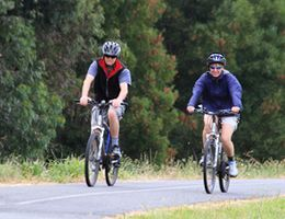 Information about Knox bike trails and cycling events within the communities to get families active together.