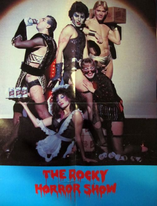 patron-saint-of-the-denial:  poster from the 1st North American Tour of The Rocky Horror Show (aka The 'Original' Rocky Horror Show). Schlitz Beer was the main sponsor for the tour. *This is a photograph my poster, that i was lucky enough to obtain.