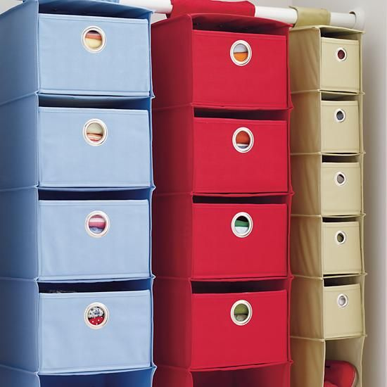 Childrens Kids 3 Tier Toy Bedroom Storage Shelf Unit 8: Kids' Storage Containers: Kids Colorful Canvas Hanging