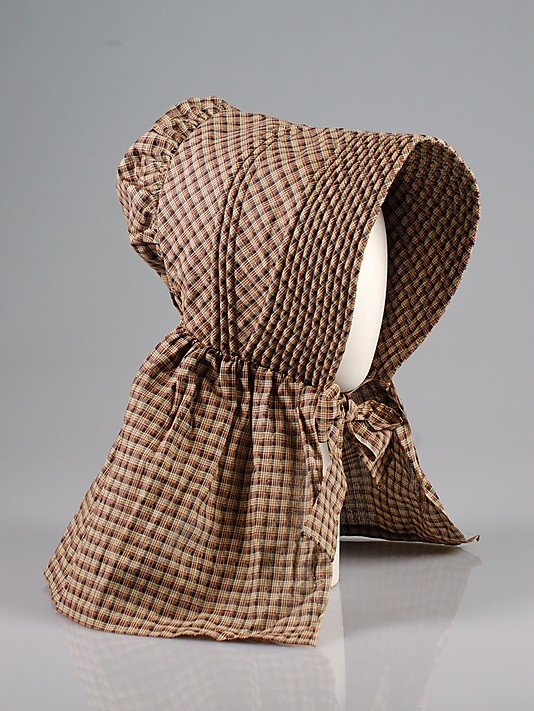 Sunbonnet, c. 1840, American, cotton/Grandmother had these and she would make them for friends. They work great for working in the garden.