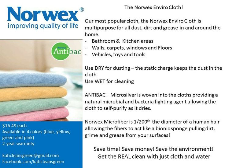#Norwex Enviro cloths (www.norwex.com) can also clean glass, mirrors and windows with the complimenting Norwex Window cloth. Use the Norwex enviro cloth slightly moist and wipe the glass or mirror surface and dry or finish with the Window Cloth to provide a streak-free clean.  Learn more at katidoebler.norwex.biz or facebook.com/katicleansgreen