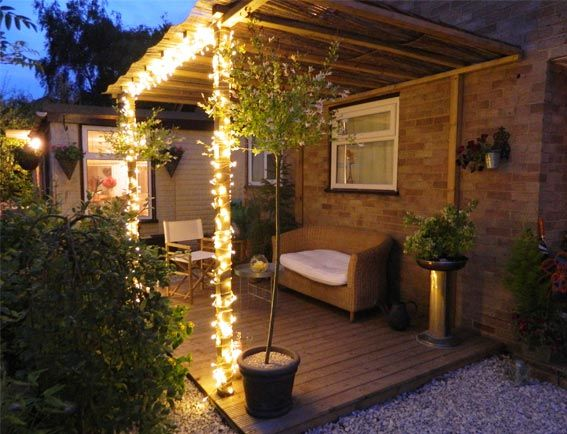 Enthused Monkey: Crafty DIY : Decked Garden Terrace #Garden_Lighting #Garden_Ideas #Garden_DIY