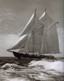 Bluenose II --  Lunenburg, Nova Scotia    (largest working mainsail in the world!)