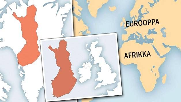 Ällistyttävä kartta paljastaa maiden todelliset mittasuhteet – katso, minkä kokoinen Suomi oikeasti on - Tiede - Ilta-Sanomat