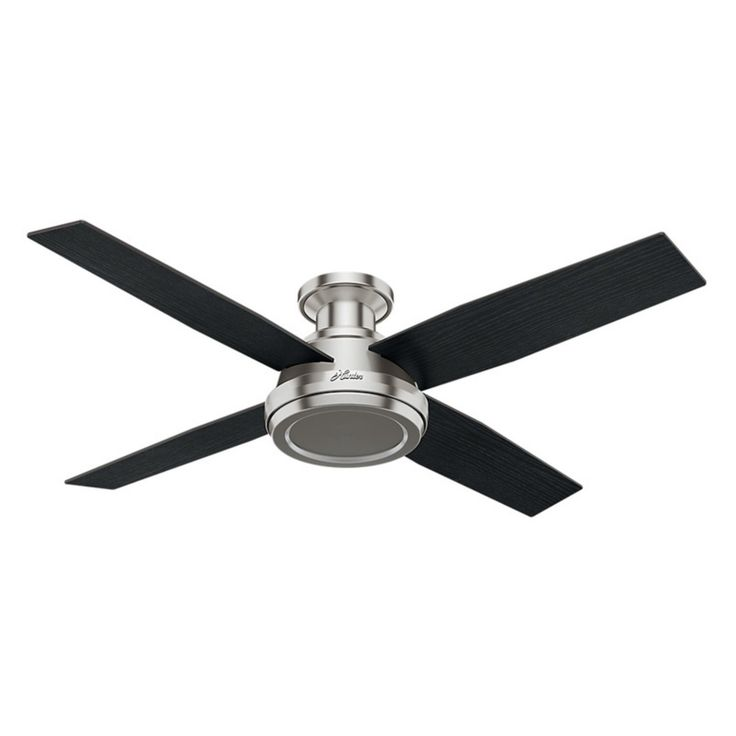 Hunter Dempsey 52 in. Low Profile Indoor Ceiling Fan with Remote - 59247