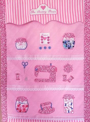 Sewing Room Wall Hanging and Machine Cover