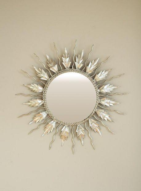 Espejo sol plateado