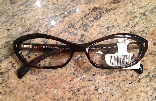 prada eyeglasses frames 260 pr11ov tortoise nwt tortoise ebay and eye glasses - Ebay Eyeglasses Frames
