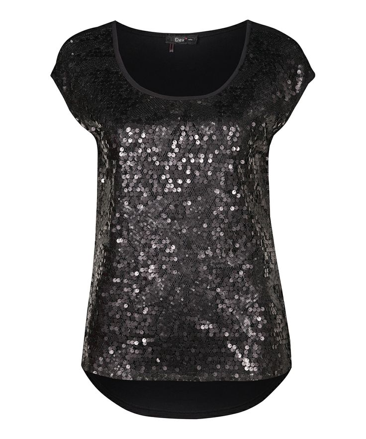 black sequin top. Just what I'm looking for. A black and a silvery sequined top and I'm cruise ready :)