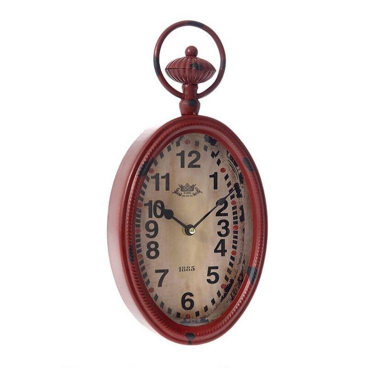 Προσφορα ημέρας -15%. Μην το χάσετε!!! Αντικέ ρολόι τοίχου σε κόκκινο μπρονζε χρώμα... http://www.foxcenter.gr/rologia/534-roloi-toixou-antike-oval.html #προσφορες #ρολοι #σπιτι #διακοσμητικα #sales #special_offer