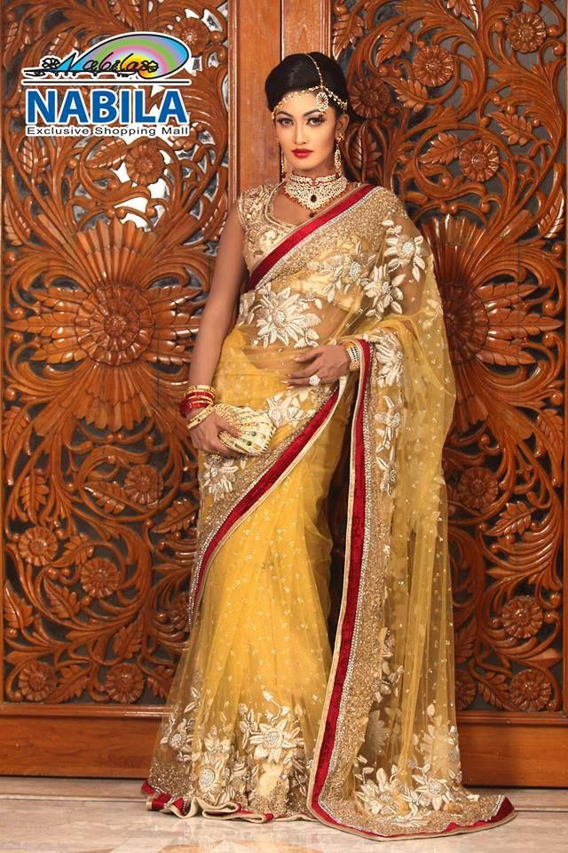 Nabila Bangladesh Sari Bridal Saree Partysaree