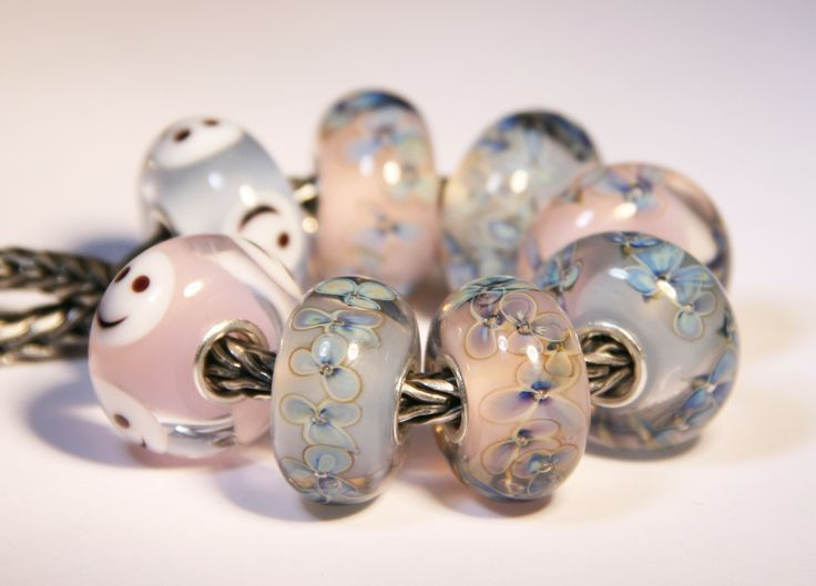 Artisan Lampwork beads for Trollbeads Anne Meiborg - Baby bead set www.annemeiborg.etsy.com