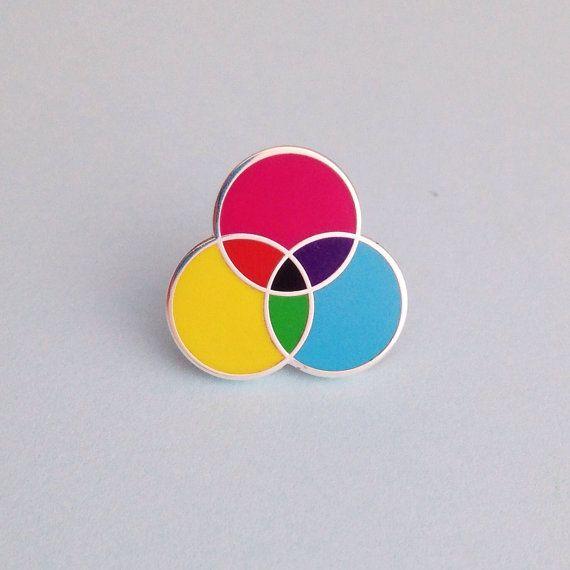 CMYK Enamel Pin Badge Lapel Pin Tie Pin by fairycakes on Etsy
