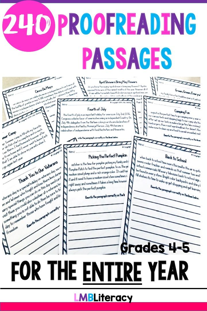 Paragraph Editing For The Entire Year Teaching Writing Writing Standards Elementary Curriculum Paragraph editing worksheets 4th grade