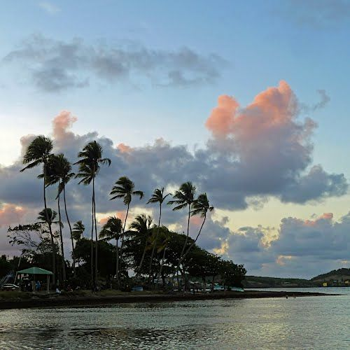 Sunset over Vauclin. Martinique