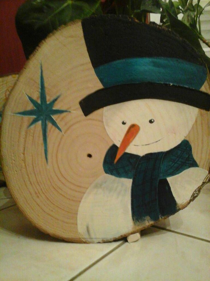 Bonhomme de neige bleu en acrylique