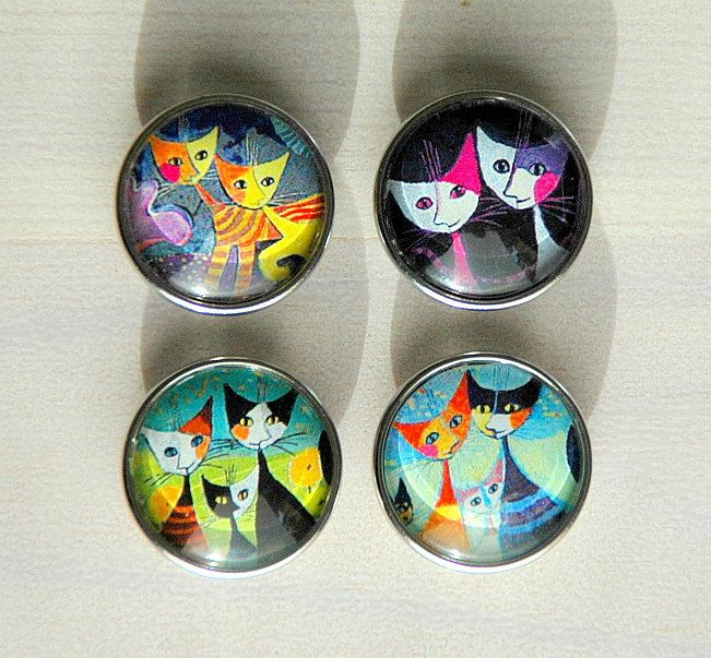 Snap Button Snap Jewelry Interchangeable Cats Pattern Noosa Style Snap Charm Chunk Popper Ginger Snap.The Price is for one unit. by Monibu on Etsy