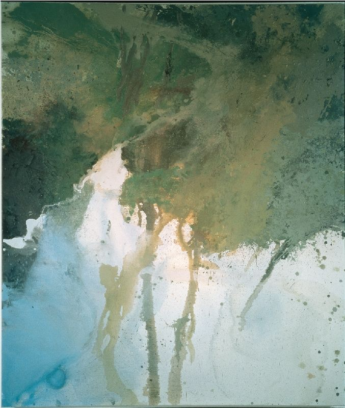 Michael Andrews  -   Source of the Thames, 1995, Oil on canvas,213.5 x 183 cms (83.91 x 71.92 ins).